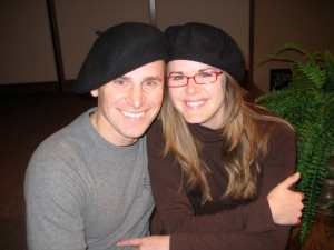 This photo was taken shortly after we got married and were getting ready to move to Paris. Look how cute we look with our French berets!
